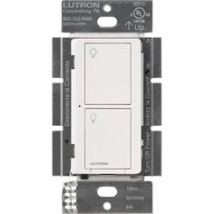 Caseta Wireless 6 Amp Multi-Location In-Wall Neutral Switch - White
