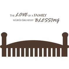 Vinyl Attraction 'The Love of a Family is Life's Greatest Blessing' Wall Decal