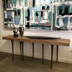 Thicket Console just arrived! Perfect with Marco Lorenzetto's painting