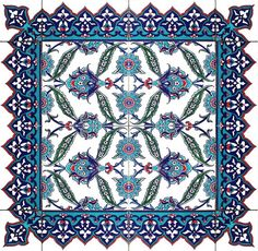 Oriental Floral Tile Pattern by ZtarShop on Etsy