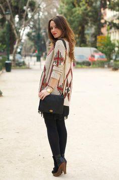 Street Style _ Navajo Jacket by Macarena Gea