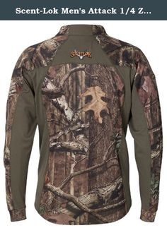 Scent-Lok Men's Attack 1/4 Zip Shirt, Mossy Oak Infinity, XX-Large. For versatility and comfort, the Attack zip-neck hunting T is hard to beat. The Attack shirt works great when worn alone when temperatures are moderate but can be used as a second layer when worn with additional layers. Its light enough for minimal bulk but warm enough to beat the chills.