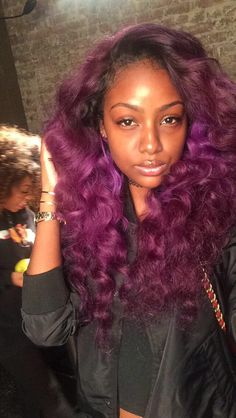 {Grow Lust Worthy Hair FASTER Naturally} ========================== Go To: www.HairTriggerr.com ========================== Long Pretty Purple Curls!!!