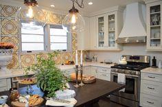 #Dreambuilders designer Lukas' re-designed #kitchen. // Love the tile & the light fixtures