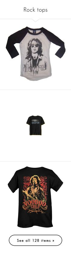 """""""Rock tops"""" by mizzizzy-18 ❤ liked on Polyvore featuring tops, t-shirts, shirts, long sleeves, long sleeve t shirt, vintage tees, 80s tees, 80s t shirts, long-sleeve shirt and band tee"""