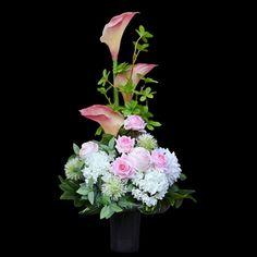 Funeral Flower Arrangements, Calla Lilies, Casket, Ikebana, Pretty In Pink, Floral Wreath, Lily, Wreaths, Flowers