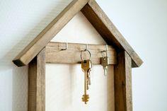 Wooden Key Hanger Wood Key Housekeeper. House Shaped Key Holder. Brown Key Chain Wall Decor. Home Gift Key Hooks. by tvoyahvoya on Etsy
