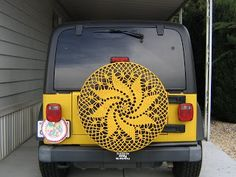 BLOG OF A CRAZY CROCHETING FOOL: Car Doily for my Tweety Jeep