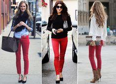 Style Tipps, wie Rote Hose zu tragen