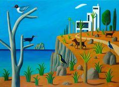 JACQUES DE LOUSTAL, Vue sur mer 1 : La villa, 2013 Huile sur toile