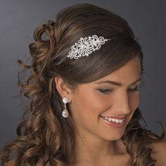 Silver Clear Headband Headpiece 621
