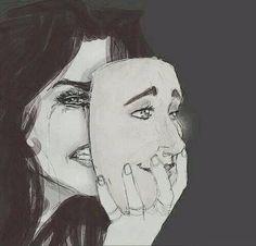 """""""Muitas vezes temos que nos esconder atrás de máscaras , não por ser falso mais sim pra evitar mais tristeza"""""""
