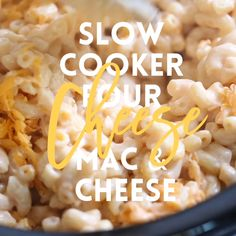 Slow Cooker Four Cheese Mac and Cheese