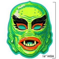 Wake up boring walls will this much loved creature from the black lagoon vintage metal sign. Vibrant color will add the right amount of fun décor to any room. If vintage movies are your thing, this creature from the black lagoon sign is perfect for you. Retro Halloween, Halloween Items, Halloween Horror, Halloween Apples, Halloween Costumes, Halloween Crafts, Holiday Crafts, Happy Halloween, Halloween Decorations