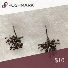 "Black and lavender tiny stones cute!! 1/2"" drop fun earrings Jewelry Earrings"