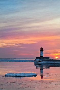 sunrise over Lake Superior, Duluth, MN