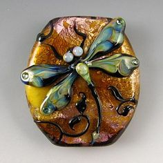 "Kerri Fuhr - Fine Handcrafted Glass Lampwork Beads, true works of art, hard to believe they're only 1.25"" across."