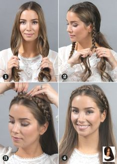 10 Mexican hairstyles that are really easy and modern - - 10 peinados mexicanos que son realmente fáciles y modernos hairstyles-mexican-modern-braids-simple Medium Hair Styles, Curly Hair Styles, Hair Medium, Hair Styles Easy, Hair Styles Steps, Braid Hair Styles, Medium Hair Braids, Loose Braids, Short Styles
