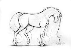 horse by Ladowska.deviantart.com on @deviantART