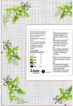 Lily of the Valley corners Cross Stitch Boards, Cross Stitch Needles, Cross Stitch Designs, Cross Stitch Patterns, Cross Stitching, Cross Stitch Embroidery, Hand Embroidery Patterns Flowers, Lily Of The Valley Flowers, Rico Design