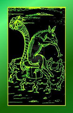 absinthe étiquette | Absinthe dancing green monkeys Alchemy Mikewildt by Mikewildt on ...