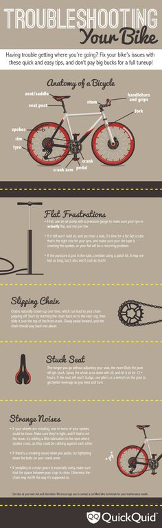 Troubleshooting Your Bike   #infographic #Bike #DIY