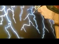 Airbrushing lightning