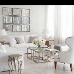 Silver Home Decor Ethan Allen Living Room White