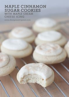 Soft Maple Cinnamon Sugar Cookie with Cream Cheese Maple Glaze (Fall Recipes Cookies)
