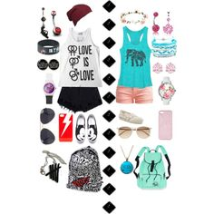 Which Are You? by crown-the-kitty-in-white on Polyvore featuring polyvore fashion style Le Temps Des Cerises TOMS Domo Beads Betsey Johnson Swarovski Bling Jewelry NLY Accessories Topshop ban.do Witchery Accessorize