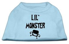 Lil Monster Screen Print Shirts Baby Blue XS (8)