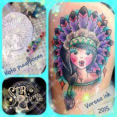 https://www.facebook.com/VorssaInk/, http://tattoosbykata.blogspot.com, #tattoo #tatuointi #katapuupponen #vorssaink #forssa #finland #traditionaltattoo #suomi #oldschool #pinup #umbrella #native