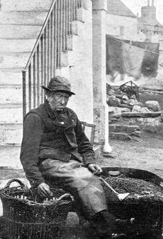 Elderly Fisherman Crail East Neuk Of Fife