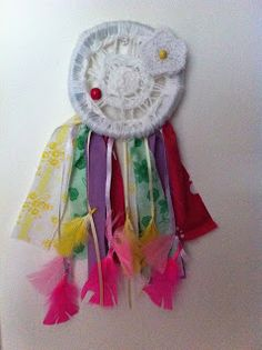 Homemade Dream Catcher, made from supplies & craft items from around the house Homemade Dream Catchers, Craft Items, Diy For Kids, Diy Projects, Blog, Crafts, House, Home Decor, Manualidades