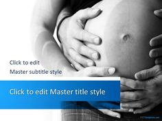 Free Pregnancy PPT Template with awesome background design for #PowerPoint