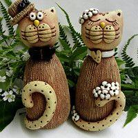 m.fler.cz zbozi?uid=91201 Ceramic Animals, Clay, Christmas Ornaments, Holiday Decor, Home Decor, Cold Porcelain, Gatos, Cash Gifts, Projects