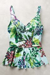 If only this cool blue tropical swimsuit were hanging off the shower rod of my hotel room off Kalakauau.