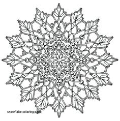 11 Best Snowflake Coloring Pages Xmas Images