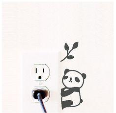 MochiThings.com: Panda Wall Switch Stickers