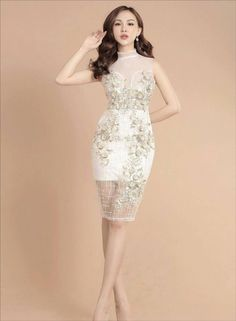 dambody.net - ĐẦM body cổ lọ phôi ren cao cấp Cute Dresses, Beautiful Dresses, Short Dresses, Cute Outfits, Prom Dresses, Formal Dresses, Wedding Dresses, Sexy White Dress, New Years Dress