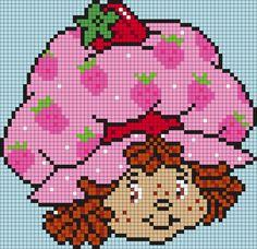 Strawberry Shortcake (square) by Maninthebook on Kandi Patterns