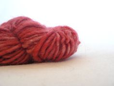 Handspun Baby Alpaca Art Yarn Hand Dyed   Russet by TailsandSnouts, $15.00