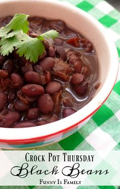 I love these Crockpot Black Beans! I put a poached egg on top for breakfast, eat them with a dollop of sour cream for lunch, and pair them with rice, chicken, or tortillas for dinner!