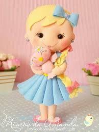 Resultado de imagen para molde boneca de feltro