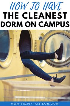 12 Disgusting Things You Have to Clean in Your Dorm The best tips to have the cleanest dorm on campus. Deep clean your dorm room every week with these great tips. Dorm room cleaning schedule you'll actually use. College Dorm Essentials, College Dorm Rooms, College Closet, College Apartments, Studio Apartments, Small Apartments, Dorm Cleaning, Room Cleaning Tips, Cleaning Supplies