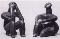 Ceranavoda man and woman, ceramic, Neolithic, 3500 BCE