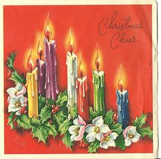 oooh, this one is also one of my favorite Christmas vintage greeting card. Christmas Cheer