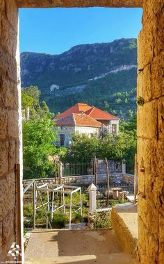 Good morning from By Nay Peltekian Blue Pool, Syria, Places, Lebanon, Egypt, Phoenicia, Traditional Architecture, Places Ive Been, Old Houses