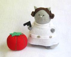 Princesa Leia para espetar alfinetes e agulhas