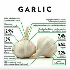 Feeling like you are about to get sick or are already sick and want to recover? Eating garlic is one of the best ways to boost your immune system! Learn what else consuming garlic can do for you. What's your favorite way to prepare garlic? Health And Nutrition, Health And Wellness, Health Tips, Holistic Nutrition, Health Facts, Complete Nutrition, Nutrition Guide, Health Recipes, Get Skinny